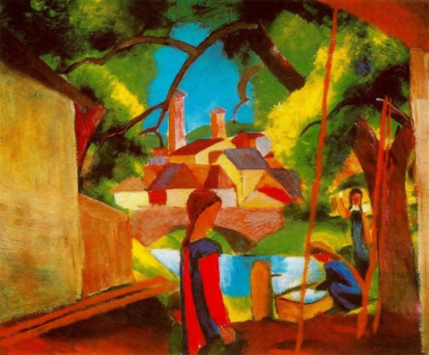 August Macke, Children at the fountain