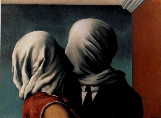 Rene Magritte, El beso de los amantes