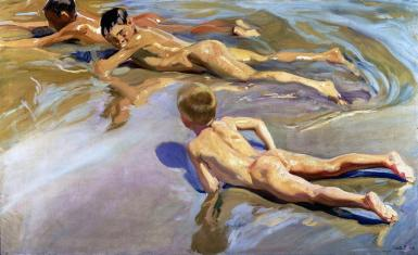 Children on the beach, Joaquin Sorolla y Bastida