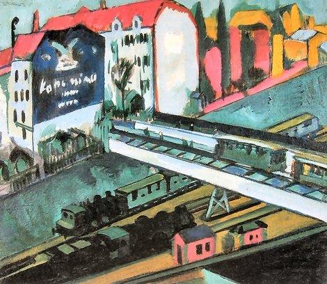 Ernst Ludwig Kirchner, Tram and rail