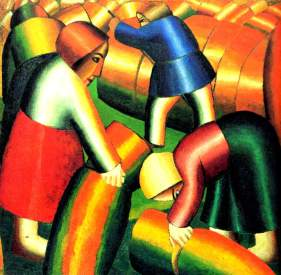 Taking in the Rye, Kazimir Malevich