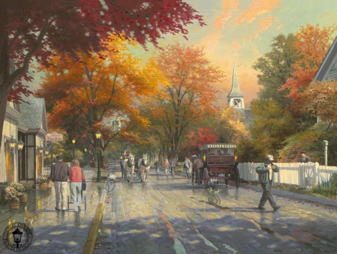 Thomas Kinkade, Autumn on Mackinac Island