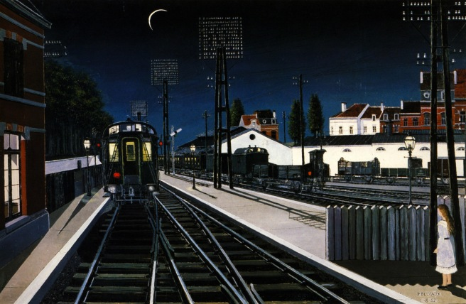 Paul Delvaux, Train in evening