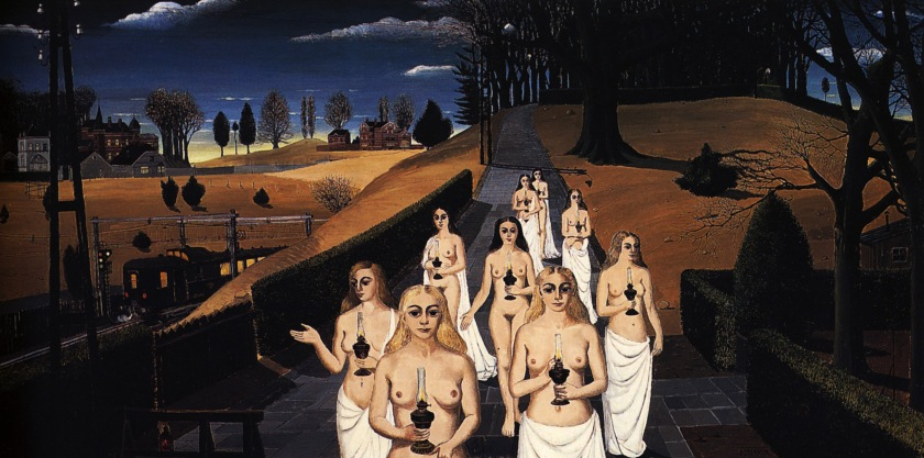 Paul Delvaux, The Cortege, 1963