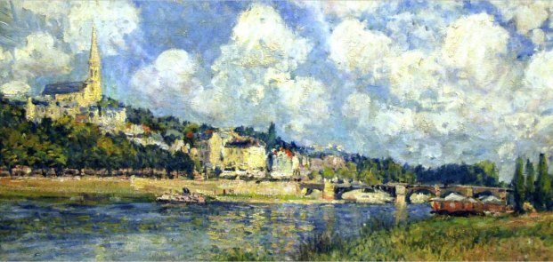Alfred Sisley, The River at Saint Cloud