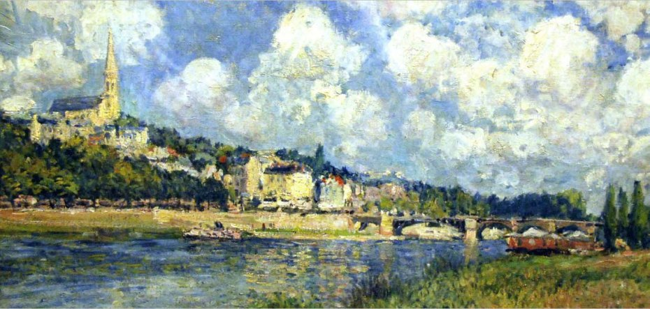 Alfred Sisley, The River at Saint Cloud